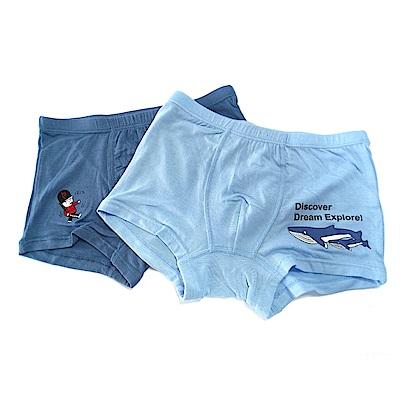 皮爾卡登 男兒童彈力鯨魚平口褲-混色4件組(137001-2)
