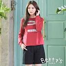 betty's貝蒂思 格紋車線毛呢短褲(黑色)