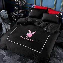 PlayBoy 黑色奇蹟 加大四件式兩用被床包組
