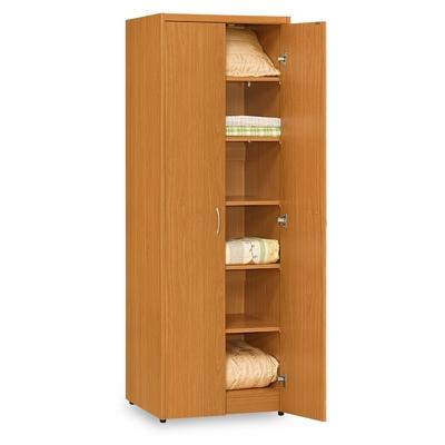 時尚屋 愛瑪2尺雙門層板衣櫃 寬60x深58x高180公分