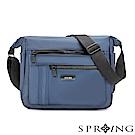 SPRING-微光澤輕量側背包-大-質感藍