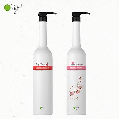 O right 歐萊德 桃花+枸杞豐盈洗髮精1000ml 兩入組 (細軟髮 首選)