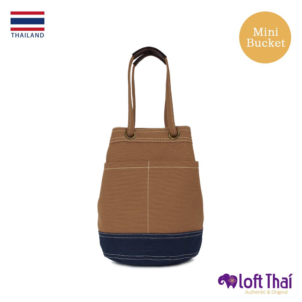Loft THAI | 泰.兩用帆布水桶包(小) | Brown/navy @ Y!購物