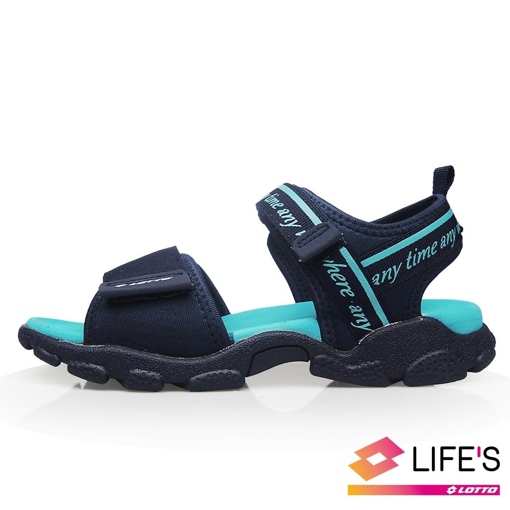 LOTTO 義大利 女 美型健走運動涼鞋(藍)