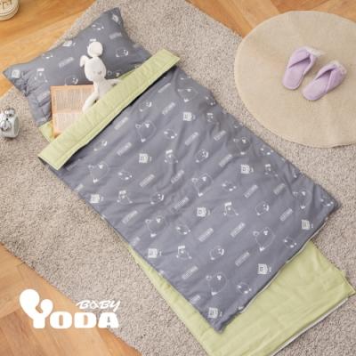 YODA 100%精梳棉兒童睡袋-奧樂雞遊樂園-B版