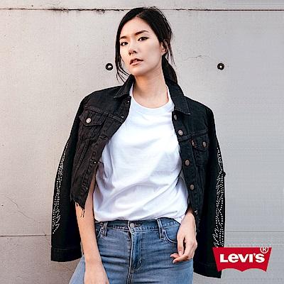 Levis 女款 牛仔外套 經典修身版型 個性鉚釘 時尚大流蘇 下擺裁剪不收邊