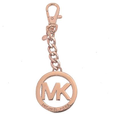 MICHAEL KORS KEY CHARMS圓型LOGO鑰匙圈吊飾(玫瑰金色)