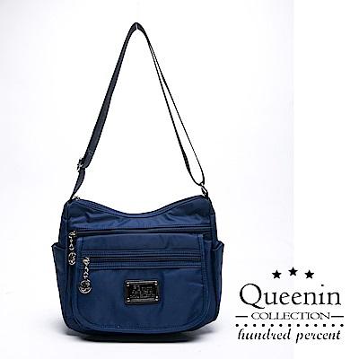 DF Queenin - 輕巧便捷防潑水側背流行水餃包-共2色