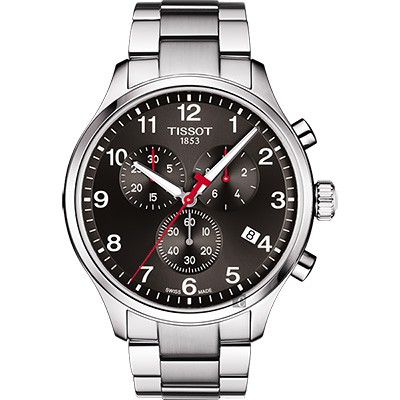 TISSOT天梭 2018亞運會特別版 韻馳系列 Chrono XL手錶-灰/45mm