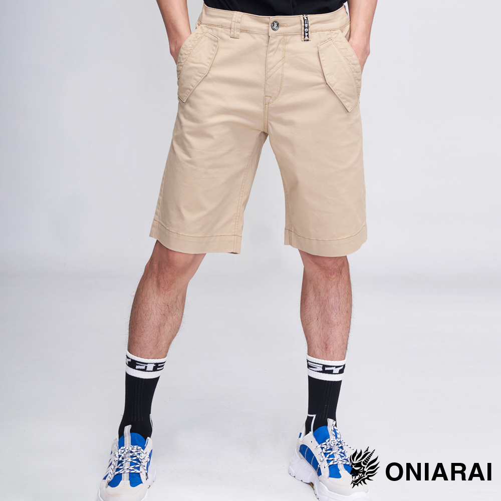 鬼洗 BLUE WAY 鬼著休閒袋蓋色短褲(卡其)