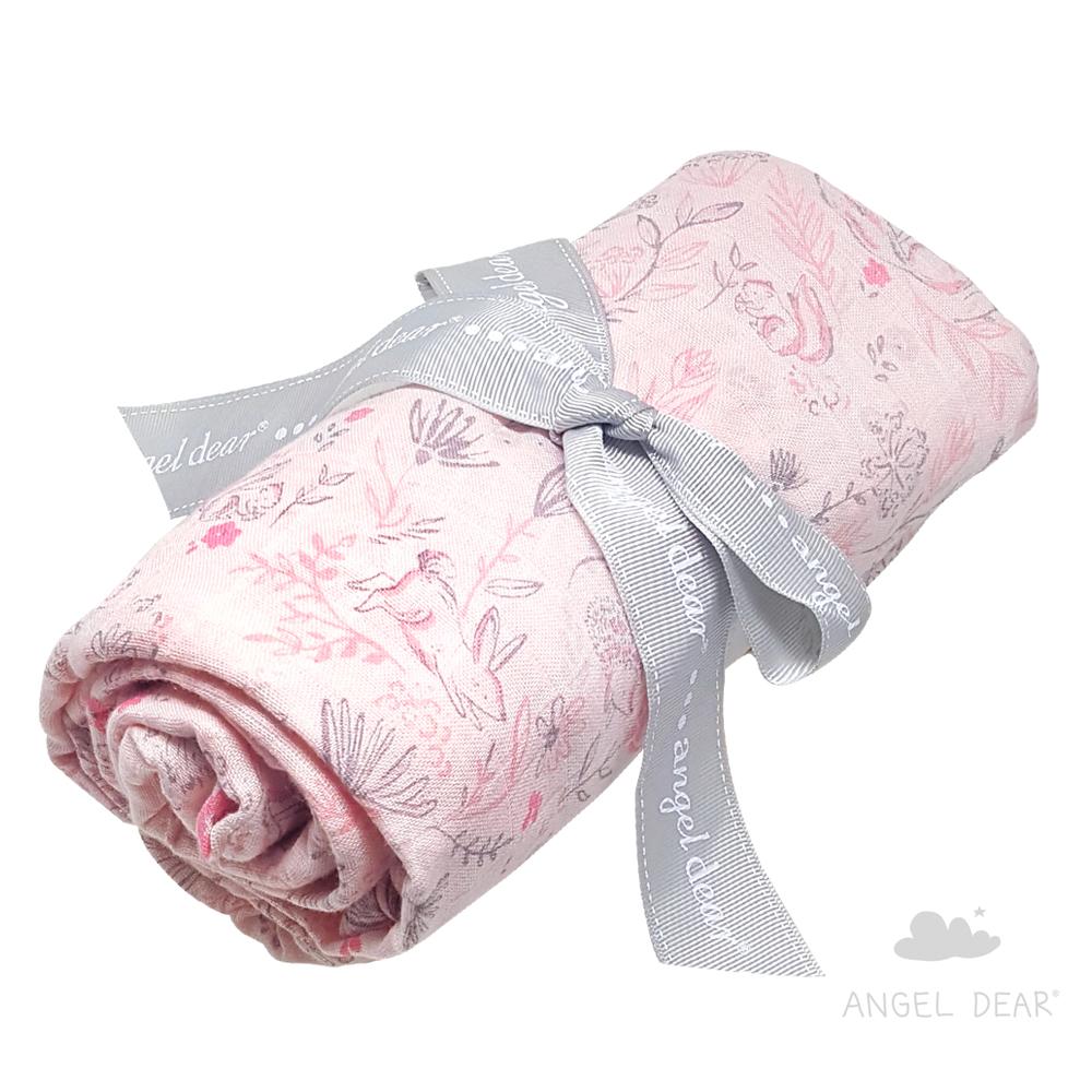 美國 Angel Dear 竹纖維嬰幼兒包巾禮盒 (童話森林)