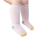 JoyNa【5雙入】兒童襪豎條紋高筒襪鬆口嬰幼長筒襪子3色雙針長筒襪