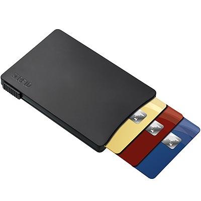 《REFLECTS》推式RFID證件夾(黑)