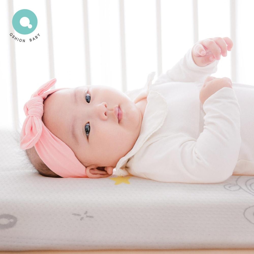 QSHION 嬰兒透氣水洗床墊 (W60xL120x8CM)(100%台灣製造)