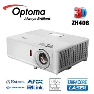Optoma 奧圖碼 ZH406 雷射高亮度工程及商用投影機 4500 流明 1080p 公司貨