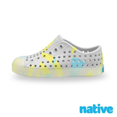 native 小童鞋 JEFFERSON 小奶油頭鞋-淘氣灰