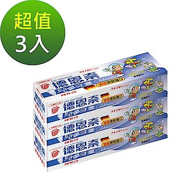 德恩奈 兒童牙膏水蜜桃口味90g-超值三入組