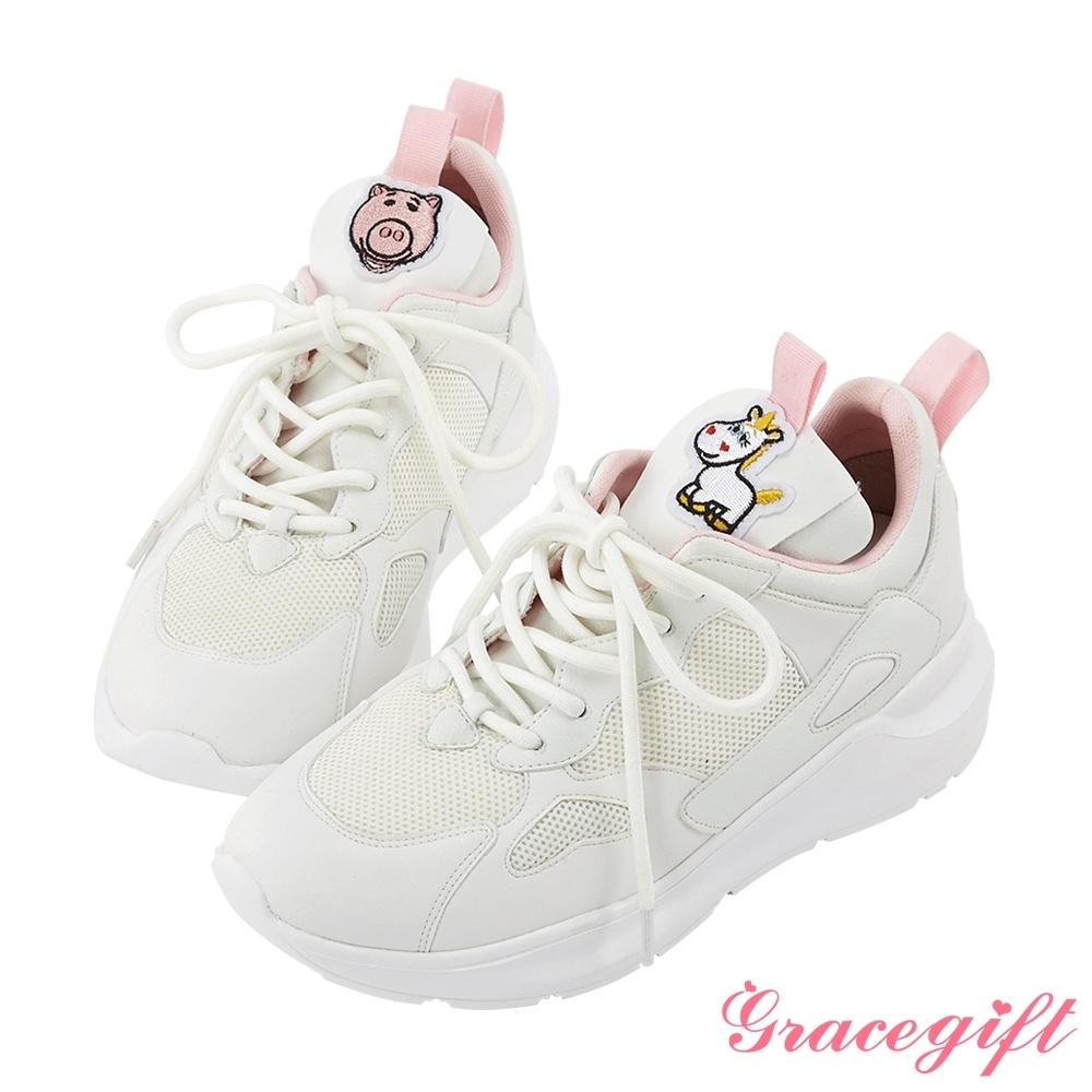 Disney collection by gracegift玩具總動員潮流老爹鞋 白