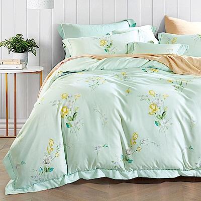 Ania Casa 清畫 原廠天絲 採用3M吸溼排汗專利 雙人鋪棉兩用被床包組