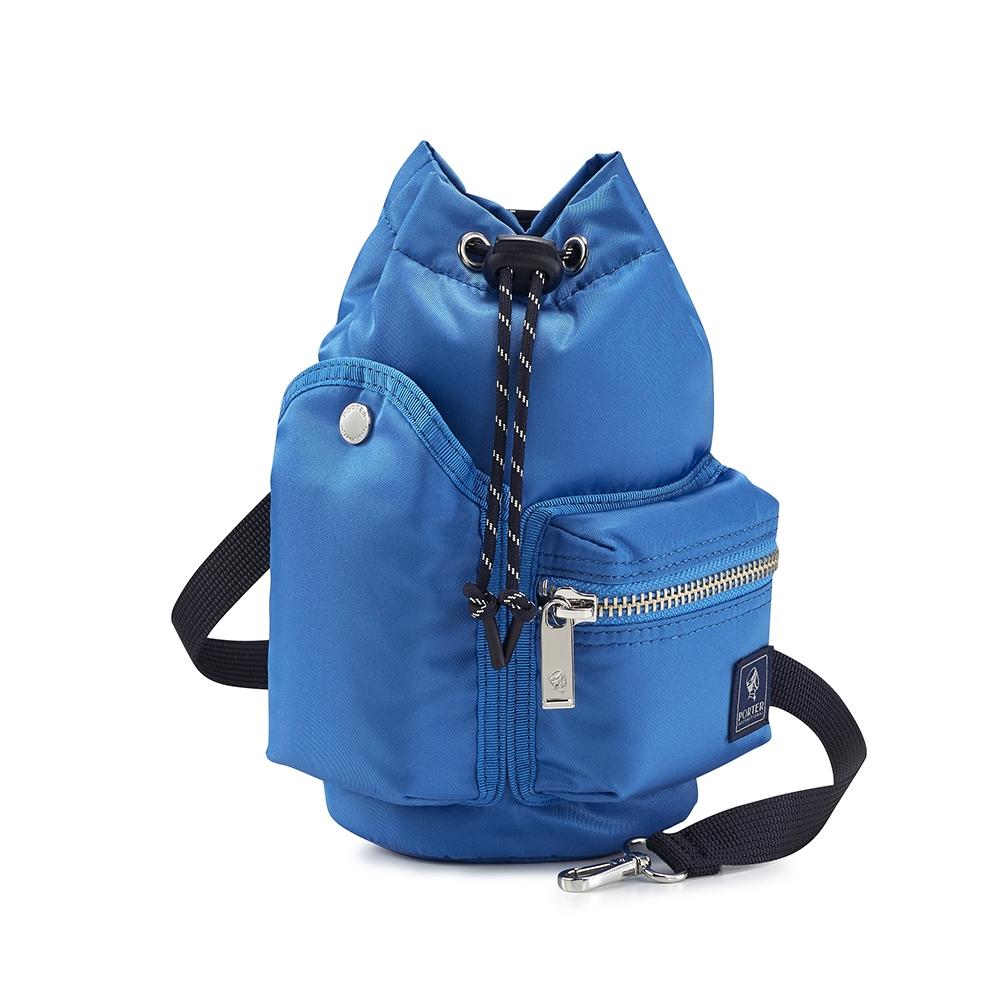 PORTER - 輕巧時髦POD束口兩用水桶包 - 太平洋藍