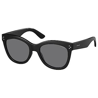 Polaroid PLD 4040/S-柔美眉框太陽眼鏡 黑色