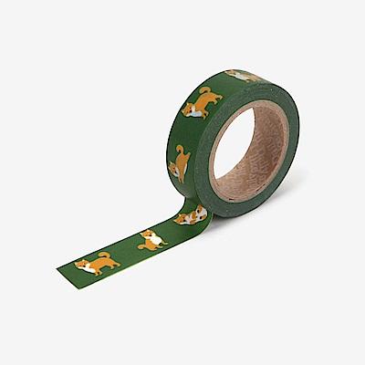 Dailylike 單捲紙膠帶 - 110 柴犬