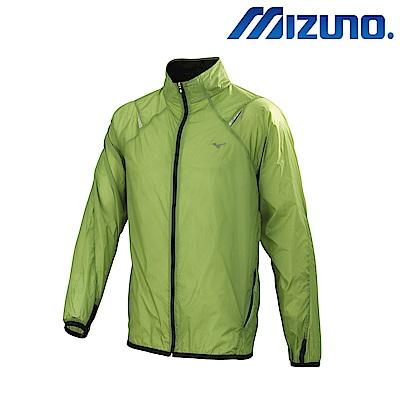 MIZUNO 美津濃 路跑風衣 灰綠 J2TC658237