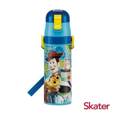 Skater直飲470ml不鏽鋼水壺-玩具總動員-藍