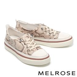 休閒鞋 MELROSE 時髦率性蛇紋造型厚底休閒鞋-蛇紋