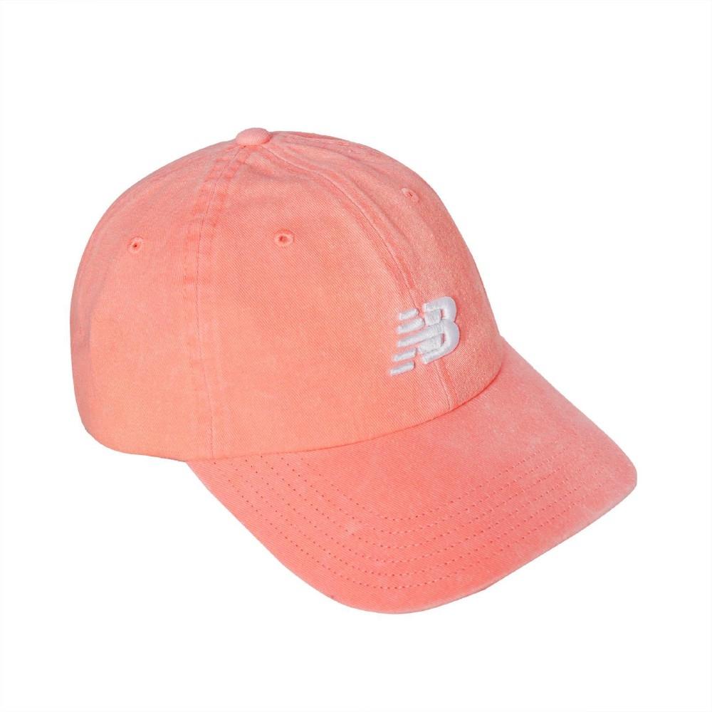 New Balance 老帽 NB Logo Baseball Cap 男款 紐巴倫 運動休閒 棒球帽 帽圍可調 橘 白 LAH91014PPI
