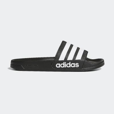 adidas 涼拖鞋 休閒 運動拖鞋 男女鞋 黑 AQ1701 ADILETTE SHOWER