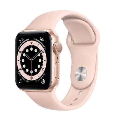 Apple Watch Series 6 (GPS) 40mm 金色鋁金屬錶殼+粉色錶帶(MG123TA/A)