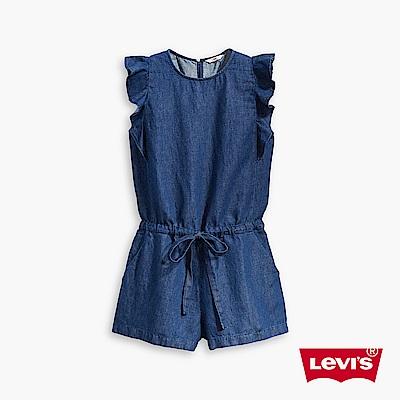 牛仔短褲 女款  連身短褲  荷葉袖 - Levis