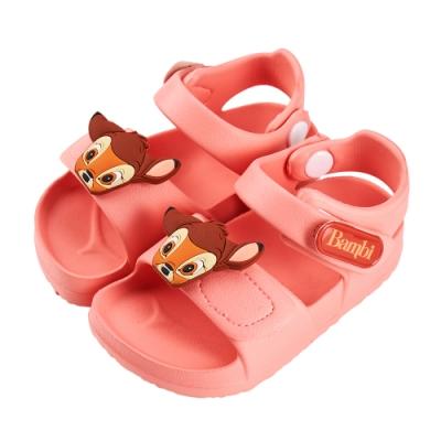 迪士尼童鞋 小鹿斑比 立體造型防水涼鞋-粉(柏睿鞋業)