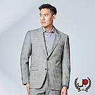 極品西服 商務修身羊毛格纹劍領西裝外套 _黑格(AW702-3G)