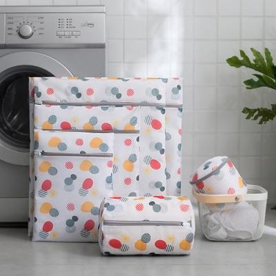 EZlife加厚防纏繞洗衣袋6件組(2組入)贈馬卡龍被芯防跑固定器