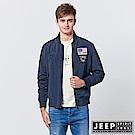 JEEP 型男立領休閒飛行外套 -深藍