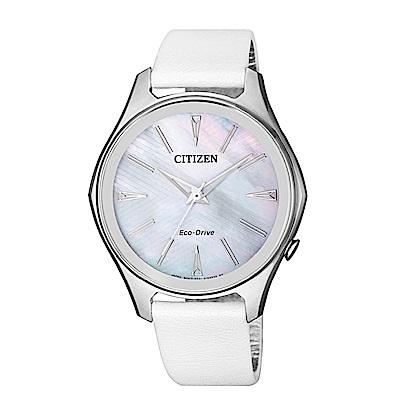 CITIZEN LADYS優雅俐落光動能時尚腕錶/EM0597-12D