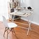 樂嫚妮 書桌/辦公桌/免安裝X型折疊桌-寬84深60高93cm product thumbnail 2