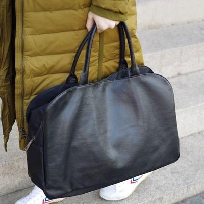 米蘭精品 手提包真皮公事包-大容量簡約牛皮旅行男女包包情人節生日禮物73ym1