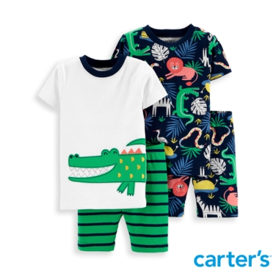 【carter's】 叢林動物園睡衣四件組 (2T-5T) 任選 (台灣總代理)