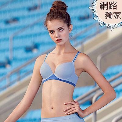 曼黛瑪璉 紓壓好動IceBar包覆內衣  B-E罩杯(海灘藍)