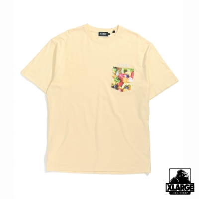 XLARGE S/S INGREDIENTS STANDARD POCKET短袖T恤-黃