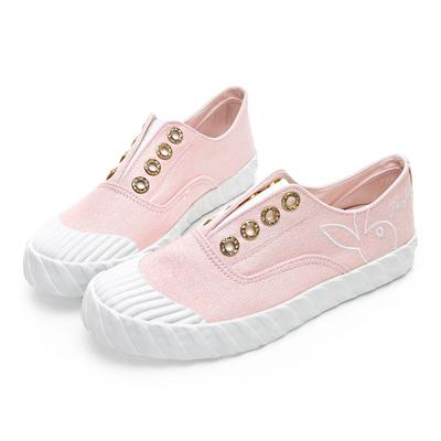 PLAYBOY 亮蔥潮流系餅乾鞋-白-Y521199
