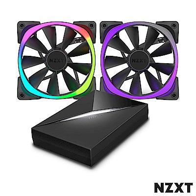 NZXT恩傑組合包Aer RGB Series12公分風扇燈光控制器hue