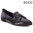 ECCO SHAPE 流蘇尖頭正裝風格芭蕾舞鞋 女-黑