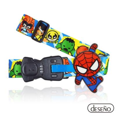 Marvel 漫威英雄Q版秤重行李箱束帶III-蜘蛛人
