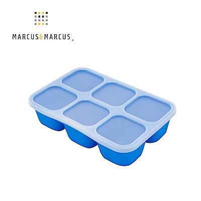 【MARCUS&MARCUS】動物樂園造型矽膠副食品分裝保存盒-河馬(藍)