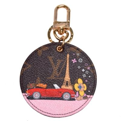 LV M68651經典Monogram帆布吉祥物遊玩巴黎的場景吊飾/鑰匙圈