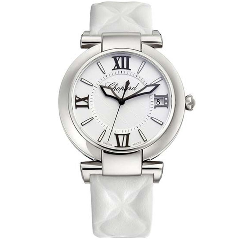 CHOPARD 蕭邦 帝國系列 黑與白菱格羅馬面女錶 40mm